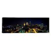 iCanvas Panoramic Aerial View of a City Lit up at Night Cleveland, Ohio Photographic Print on Canvas