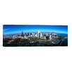 iCanvasArt Panoramic Aerial View of Millennium Park in Chicago, Illinois Photographic Print on Canvas