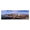 iCanvas Panoramic Aerial View of Brooklyn Bridge and Manhattan Skyline, New York Photographic Print on Canvas