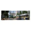 iCanvas Panoramic View of a Tram Trolley on a City Street Court Square, Memphis, Tennessee Photographic Print on Canvas