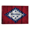 iCanvas Arkansas Flag, Grunge Boards Painted Graphic Art on Canvas