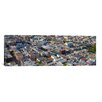 iCanvasArt Panoramic Aerial View of Colorful Houses Near Washington Square and Columbus Avenue, San Francisco, California Photographic Print on Canvas