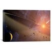 iCanvas Astronomy and Space Asteroid Belt (Spitzer Space Observatory) Photographic Print on Canvas