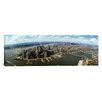 iCanvasArt Panoramic Aerial View of Buildings in a City, New York City, New York State Photographic Print on Canvas