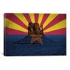 iCanvas Arizona Flag, Monument Valley Grunge Graphic Art on Canvas