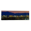 iCanvas Panoramic Aerial View of Buildings Lit up at Dusk Las Vegas, Nevada Photographic Print on Canvas