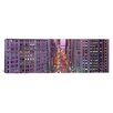 iCanvasArt Panoramic Aerial View of an Urban Street in Michigan Avenue, Illinois Photographic Print on Canvas