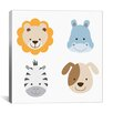 <strong>iCanvasArt</strong> Kids Art Animal Farm II Graphic Canvas Wall Art