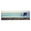 iCanvas Panoramic Vacant Chair on the Beach, Nice, Cote De Azur, France Photographic Print on Canvas