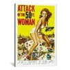 iCanvasArt Attack of The 50 Foot Woman Vintage Movie Poster  Canvas Print Wall Art