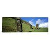 iCanvasArt Panoramic Stone Heads, Easter Islands, Chile Photographic Print on Canvas