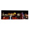 iCanvasArt Panoramic Las Vegas, Clark County, Nevada 2011 Photographic Print on Canvas