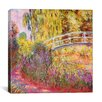 iCanvasArt 'Japanese Bridge, Pond with Water Lilies' by Claude Monet Painting Print on Canvas