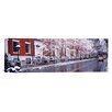 iCanvas Panoramic Winter, Snow in Washington Square, New York Photographic Print on Canvas