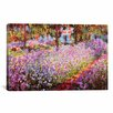 iCanvas 'Jardin De Giverny' by Claude Monet Painting Print on Canvas