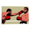 <strong>iCanvasArt</strong> 'Joe Frazier Throwing Punch' by Muhammad Ali Graphic Art on Canvas