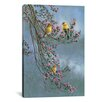 iCanvasArt 'Gold Finches' by Wanda Mumm Photographic Print on Canvas