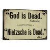 iCanvasArt Color Bakery 'God is Dead' Textual Art on Canvas