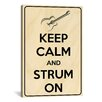 <strong>iCanvasArt</strong> Keep Calm and Strum On Textual Art on Canvas