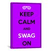 <strong>iCanvasArt</strong> Keep Calm and Swag On Textual Art on Canvas