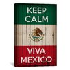 <strong>iCanvasArt</strong> Keep Calm and Viva Mexico Textual Art on Canvas