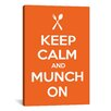 iCanvas Kitchen Keep Calm and Munch On Textual Art on Canvas