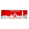 <strong>iCanvasArt</strong> Keep Calm and Love Hong Kong Textual Art on Canvas