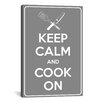 iCanvas Keep Calm and Cook On Textual Art on Canvas