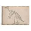 <strong>iCanvasArt</strong> Iguanodon Skeleton Anatomy Graphic Art on Canvas