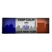 iCanvas Keep Calm and Love New York Textual Art on Canvas