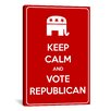 iCanvasArt Keep Calm and Vote Republican Textual Art on Canvas