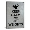 iCanvas Keep Calm and Lift Weights Textual Art on Canvas