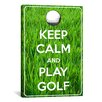 iCanvas Keep Calm and Play Golf Textual Art on Canvas