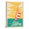 iCanvas I'd Rather Be Sailing by Anderson Design Group Vintage Advertisement on Canvas