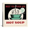 iCanvas Hot Soup Advertising Vintage Poster