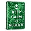 iCanvasArt Keep Calm and Reboot Textual Art on Canvas