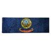 <strong>Idaho Flag, Cracks Panoramic Graphic Art on Canvas</strong> by iCanvasArt