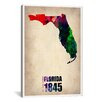 iCanvas Naxart 'Florida Watercolor Map' Graphic Art on Canvas