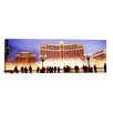 iCanvasArt Panoramic Bellagio Resort And Casino, Las Vegas, Nevada Photographic Print on Canvas