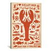 <strong>iCanvasArt</strong> 'I Heart Seafood' by Anderson Design Group Graphic Art on Canvas
