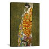 <strong>iCanvasArt</strong> 'Hope II 1907-1908' by Gustav Klimt Painting Print on Canvas