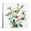iCanvas 'First Down (Four Sporting Boys: Football)' by Norman Rockwell Painting Print on Canvas