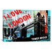 "<strong>iCanvasArt</strong> ""I Love London"" by Luz Graphics Graphic Art on Canvas"