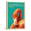 iCanvasArt 'Flamingo Lounge' by Anderson Design Group Vintage Advertisement on Canvas