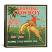 iCanvas Florida Cowboy Oranges and Grapefruit Vintage Crate Label Canvas Wall Art