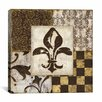"iCanvas ""Fleur de Lis"" Canvas Wall Art by Daphne Brissonnet"