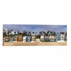 <strong>iCanvasArt</strong> Panoramic Houses on The Beach, Santa Monica, Los Angeles County, California Photographic Print on Canvas