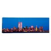 iCanvas Panoramic Evening Lower, Manhattan, New York Photographic Print on Canvas