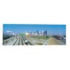 <strong>iCanvasArt</strong> Houston Panoramic Skyline Cityscape Photographic Print on Canvas