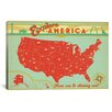 <strong>iCanvasArt</strong> 'Explore America' by Anderson Design Group Vintage Advertisement on Canvas